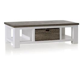 Deaumain, salontafel 130 x 70 cm 1-mand t&t + 2-niches