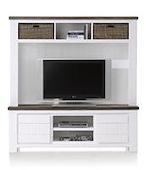 Deaumain, tv-opzetkast 160 cm + 3-niches + 1-niche + 2-manden