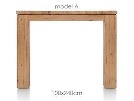 A La Carte, eetkamertafel 240 x 100 cm - AAD