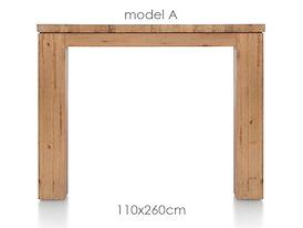 A La Carte, eetkamertafel 260 x 110 cm - AAD