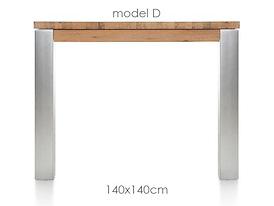 A La Carte, eetkamertafel 140 x 140 cm - DIRK