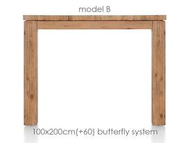 A La Carte, uitschuiftafel 200 (+ 60) x 100 cm - BEN