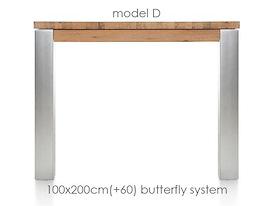 A La Carte, uitschuiftafel 200 (+ 60) x 100 cm - DIRK