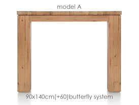 A La Carte, uitschuiftafel 140 (+ 60) x 90 cm - AAD