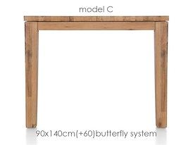 A La Carte, uitschuiftafel 140 (+ 60) x 90 cm - COR