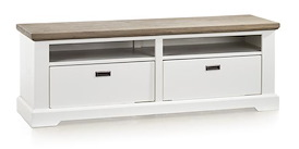 Mallorca, tv-dressoir 2-manden + 2-niches - 145 cm