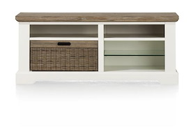 Mallorca, tv-dressoir 1-mand + 4-niches - 120 cm