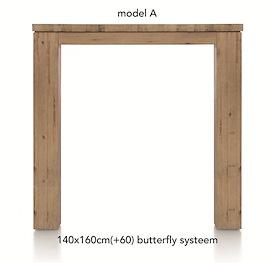 A La Carte, uitschuif-bartafel 160 (+ 60) x 140 cm - AAD