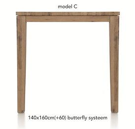 A La Carte, uitschuif-bartafel 160 (+ 60) x 140 cm - COR