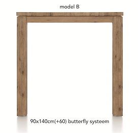 A La Carte, uitschuif-bartafel 140 (+ 60) x 90 cm - BEN