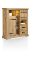 Borneo, highboard 2-deuren + 2-laden + 6-niches (+ LED)