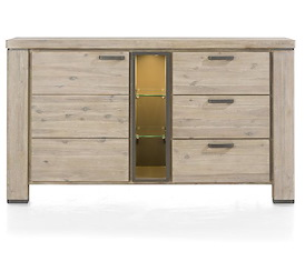 Coiba, dressoir 1-deur + 3-laden + 3-niches (+ LED) - 160 cm