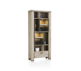 Coiba, boekenkast 1-lade + 10-niches (+ LED)