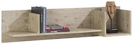 Coiba, wandplank 3-niches - 120 cm