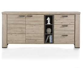 Coiba, dressoir 190 cm - 2-deuren + 3-laden + 3-niches
