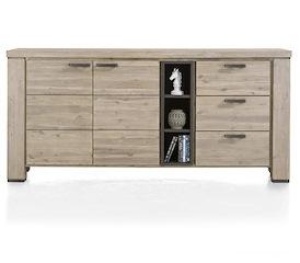 Coiba, dressoir 190 cm - 2-deuren + 3-laden + 3-niches