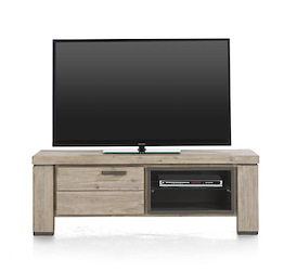 Coiba, tv-dressoir 1-klep + 2-niches - 130 cm