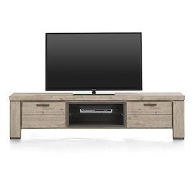 Coiba, tv-dressoir 190 cm - 1-klep + 1-lade + 2-niches
