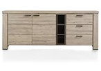 Coiba, dressoir 225 cm - 2-deuren + 3-laden + 3-niches