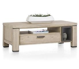 Coiba, salontafel 125 x 60 cm + 1-lade t&t + 2-niches