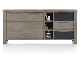 Eger, dressoir 2-deuren + 3-laden + 3-niches - 180 cm