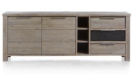 Eger, dressoir 2-deuren + 3-laden + 3-niches - 220 cm