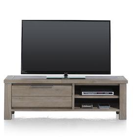 Eger, tv-dressoir 1-klep + 2-niches - 140 cm