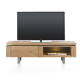 Ajezi, tv-dressoir 1-klep + 2-niches - 150 cm (+ LED)