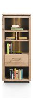 Ajezi, boekenkast 65 cm - 1-lade + 5-niches (+ LED)