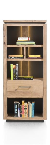 Ajezi, boekenkast 1-lade + 5-niches (+ LED) - 65 cm