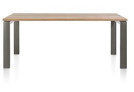 Ajezi, eetkamertafel 220 x 100 cm + U-frame metaal