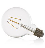 Led E-27 - globe - warm golden