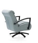 Redlake, fauteuil met draaivoet - rvs of zwart