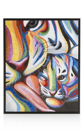 Schilderij Me and my baby - 85 x 105 cm