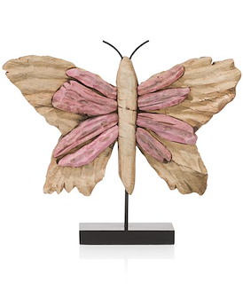 Object Butterfly large - roze