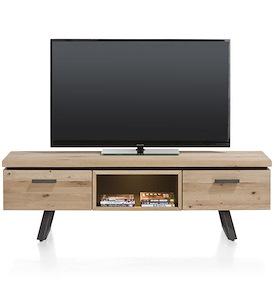 Larissa, tv-dressoir 1-lade + 1-klep + 1-niche - 150 cm (+ led)