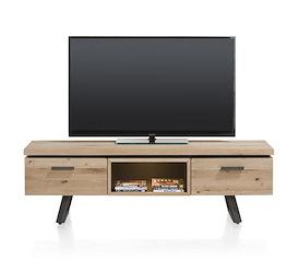 Larissa, tv-dressoir 150 cm - 1-lade + 1-klep + 1-niche (+ LED)