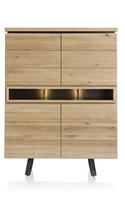 Larissa, highboard 110 cm - 4-deuren + 3-niches (+ LED)