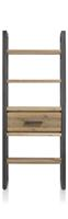 Brooklyn, boekenkast 1-lade + 5-niches - 75 cm