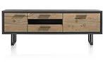 Cladio, lowboard 1-deur + 1-klep + 2-laden + 1-niche - 170 cm (+ LED)