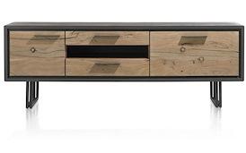 Cladio, lowboard 2-deuren + 2-laden + 1-niche - 170 cm (+ LED)