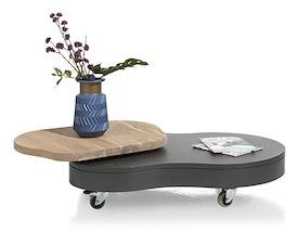Cladio, salontafel met draaitop 110 x 80 cm