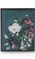 Schilderij met metaal Bouquet - 73 x 90 cm