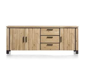 La Cruz, dressoir 220 cm - 3-deuren + 3-laden