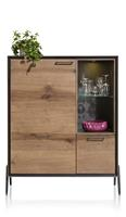 Janella, highboard 115 cm - 1-deur + 1-lade + 2-niches ( +LED)