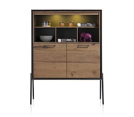 Janella, highboard 2-deuren + 4-niches (hoog op poten)(+ LED)