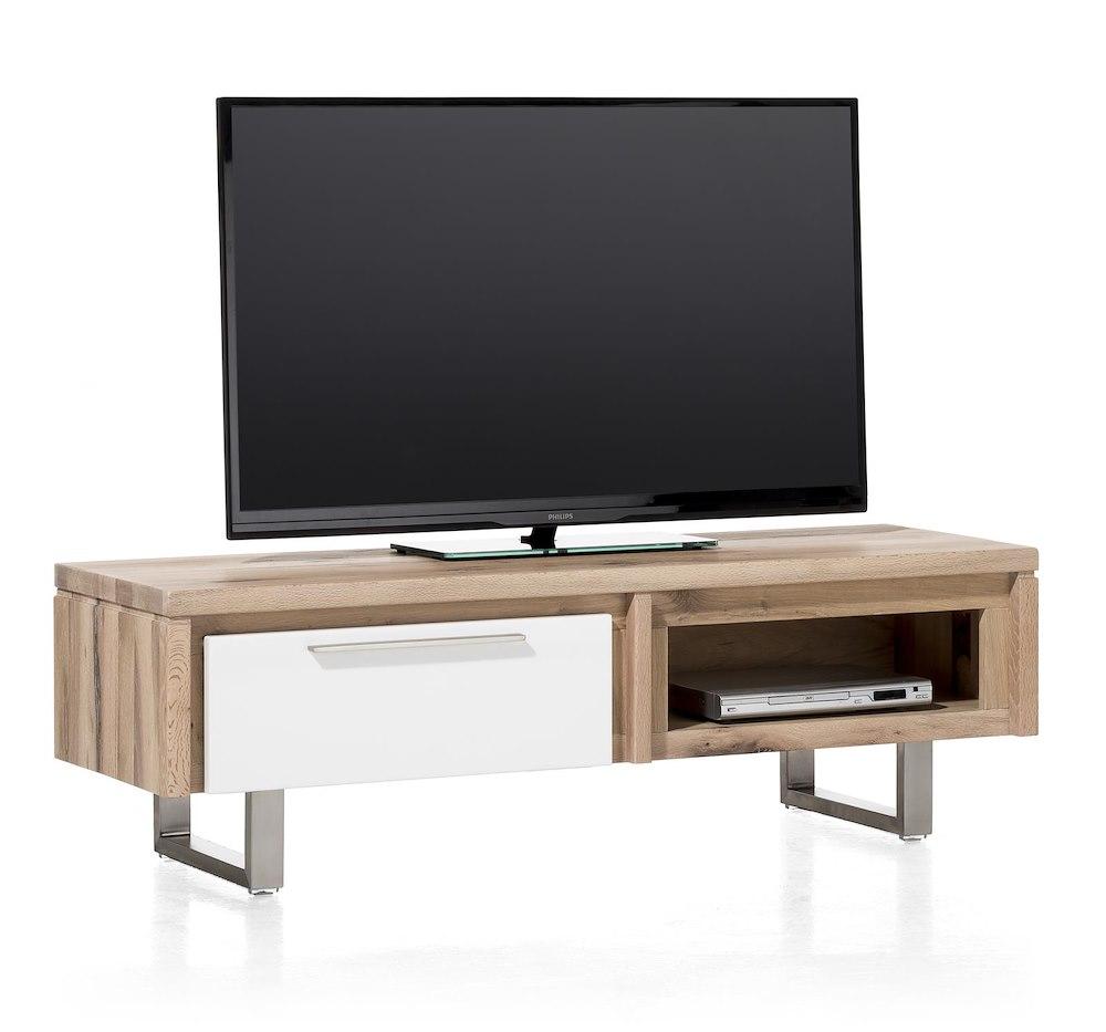 Mister, TVSideboard 1Klappe + 1Nische 140 cm  Edelstahl -> Tv Schrank Quadra