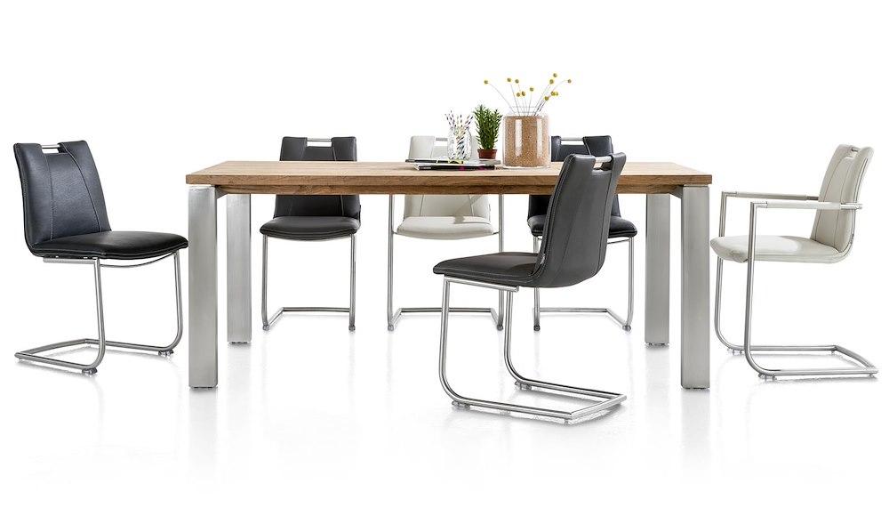 Esstisch Xooon = Piura, Tisch  190 x 90 cm + Metalfuessen
