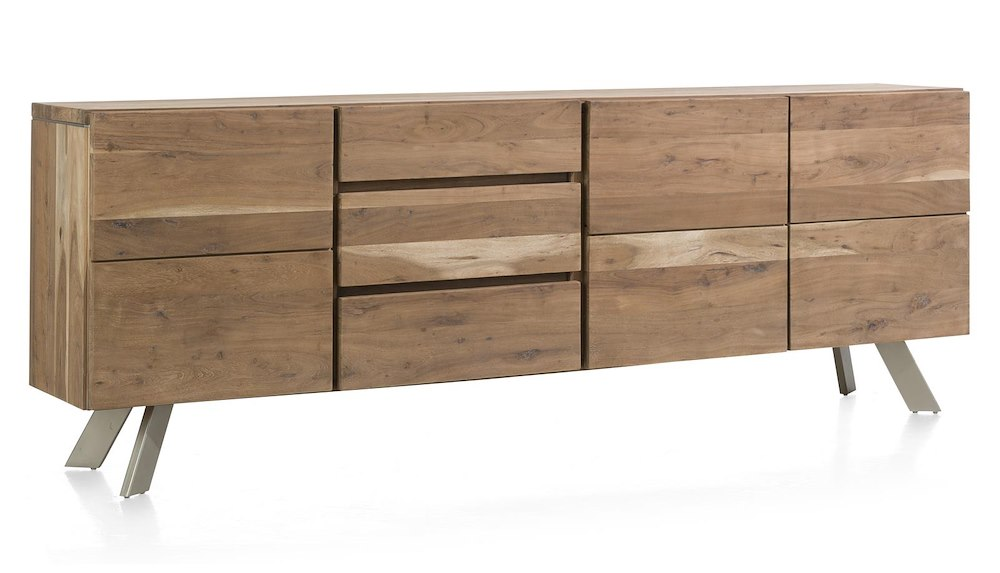 garda sideboard 3 tueren 3 laden 240 cm. Black Bedroom Furniture Sets. Home Design Ideas