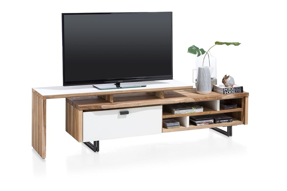 vista tv sideboard 1 klappe 4 nischen 170 cm. Black Bedroom Furniture Sets. Home Design Ideas